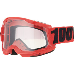 100% Strata Anti-Fog Goggles Gen2 Youth, rouge